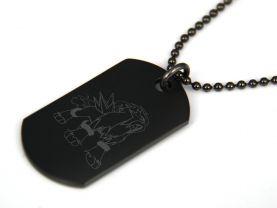 Pokemon Entei Black Dog Tag Necklace