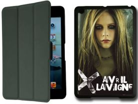 Avril Lavigne IPad Mini Black Protective Fold Smart Cover Case