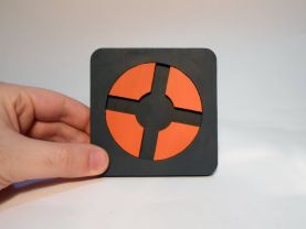Handmade Team Fortress 2 coaster