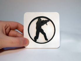 Handmade Counter Strike coaster