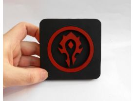 Handmade World of Warcraft Horde coaster