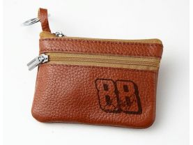 Dale Earnhardt Jr 88  Leather Zippered Coin Bag Key Pouch