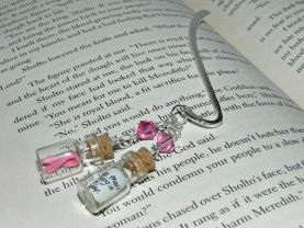 Pink Breast Cancer Awareness Ribbon Bookmark, Hand Made