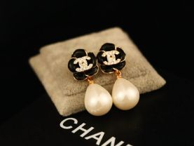 new official style earrings 2.9cm*1.0cm 14k plated never fade