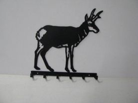 Antelope Standing 006 Hook Key Holder Metal Art