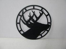 Deer Circle 003 Large Wildlife Metal Art Silhouette