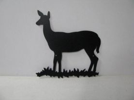 Deer Doe 003 Large Wildlife Metal Art Silhouette