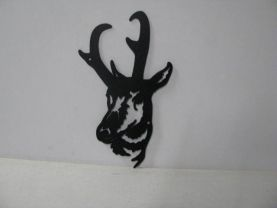 Pronghorn Large Metal Art Silhouette