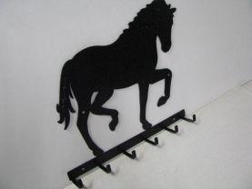 Horse 197 Walking 6 Hook Key Holder Metal Art