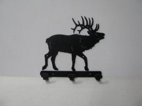 Elk 0007 Walking 3 Hook Coat Rack Metal Art