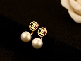 new official style earrings 2.4cm*1.2cm 14k plated never fade