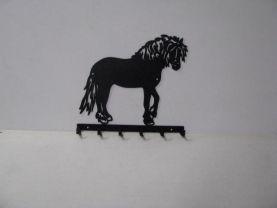 Draft Horse 005 Standing 6 Hook Key Holder Farm Silhouette