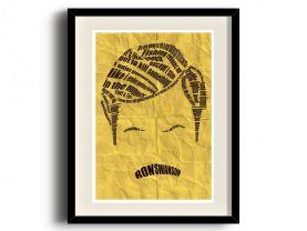 Ron Swanson typographic poster V2