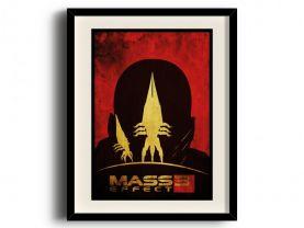 Mass Effect 3 minimalist poster, Mass Effect 3 digital art poster