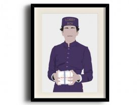 The Grand Budapest Hotel, Zero Lobby Boy poster, The Grand Budapest Hotel digital art poster