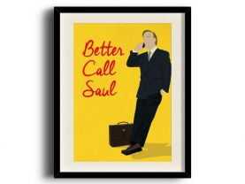Better Call Saul, Saul Goodman minimalist poster, Better Call Saul digital art poster V2