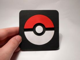 Handmade Poke Ball, Pokemon coaster