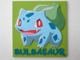Handmade Bulbasaur, Pokemon wall piece