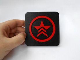 Handmade Mass Effect Renegade coaster