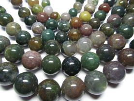 wholesale 12-20mm 5strands  INDIAN agate gemstone  round ball red green purple mixed jewelry spacer