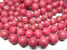 high quality 12-16mm 3strands  pink rhodochrosite gemstone  round ball veins jewelry beads