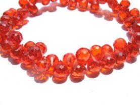 bulk cubic zirconia gemstone apricot drop onion faceted carmine red assortment  jewelry beads bracelet 5.5x7mm 64pcs
