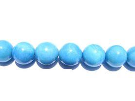 bulk gemstone  hemimorphite stone bead 10mm 5strands 16inch strand ,high quality round ball teal blue jewelry beads