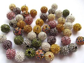 batch 12mm 100pcs, bling ball ,metal &assortment crystal rhinestone spacer round ball  jewelry beads