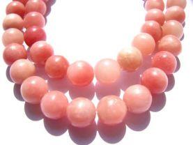 LOT gergous opal  gemstone 14mm 5strands 16inch strand ,high quality round ball pink jewelry beads
