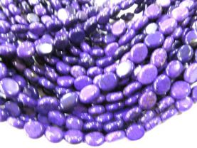 wholesale LOT  8x10mm  turquoise gemstone oval egg purple violet assortment jewelry beads --10strands 16inch/L