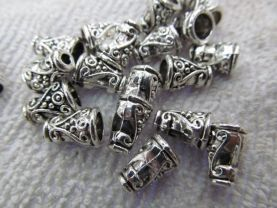 5x8 7x12mm 100pcs  Wide hole metal connector bead   bione  Bali spacer charm finding