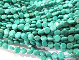 wholesale LOT  8mm  turquoise gemstone  roundel coin disc blue green assortment jewelry beads --10strands 16inch/L