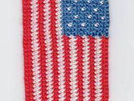 Crocheted American Flag Bookmark Kit