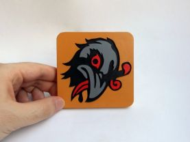 Handmade Murder of Crows Bioshock Infinite Vigor coaster