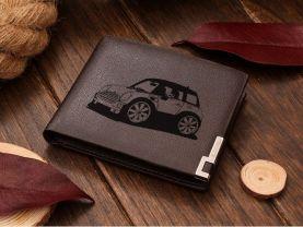 Mini Cooper Cartoon Car Leather Wallet