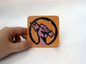 Handmade Shock Jockey Bioshock Infinite Vigor coaster