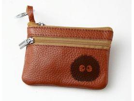 Dust Ball Makkurokurosuke Leather Zippered Coin Bag Key Pouch