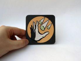 Handmade Winter Blast Bioshock plasmid coaster