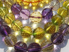 high quality lots 10mm 5strands crystal quartz gemstone round ball  faceted assortment jewelry bead