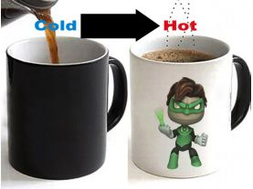 Little Big Planet Sack Boy Crossover Green Lantern Color Changing Ceramic Coffee Mug CUP 11oz