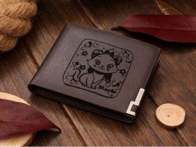 Marie the Cat Leather Wallet