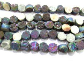 wholesale 10mm 20pcs  Calibrated Druzy Cabochon round  rainbow assortment  jewelry  charm bead