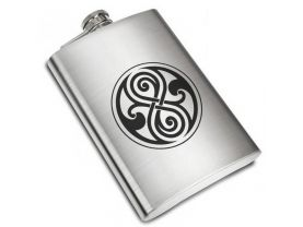 Doctor Who Symbol DW Liquor Stainless Steel Flask - 8 oz