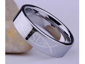 Jesus Fish Stainless Steel Ring
