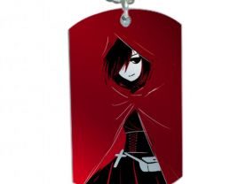 RWBY  Ruby Rose Dog Tag Pendant Necklace