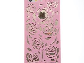 Case For Iphone 5S 5 5G Hollow Out Rose Cover Mobile Phone Bags & Cases Brand New Arrive 2014 Accessories Pink^Pink