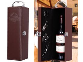 Jurassic Park PU Leather Wine Case Box with accessories