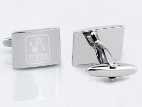 Ant-Man Pym Technologies Logo Stainless Steel Square Cufflinks