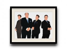 The Sopranos minimalist poster, The Sopranos digital art poster