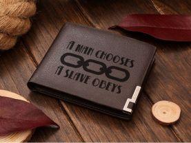 BioShock A Man Chooses A Slave Obeys Leather Wallet